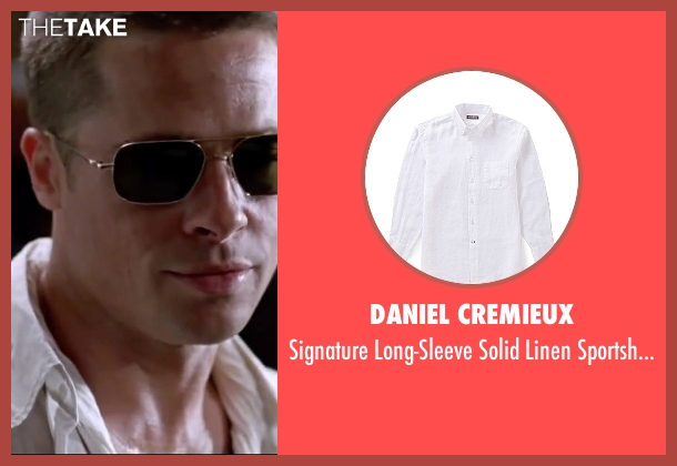 Daniel Cremieux white sportshirt from Mr. & Mrs. Smith seen with Brad Pitt (John Smith)