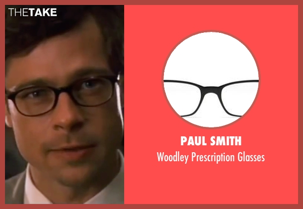 Paul Smith black glasses from Ocean's Eleven seen with Brad Pitt (Unknown Character)