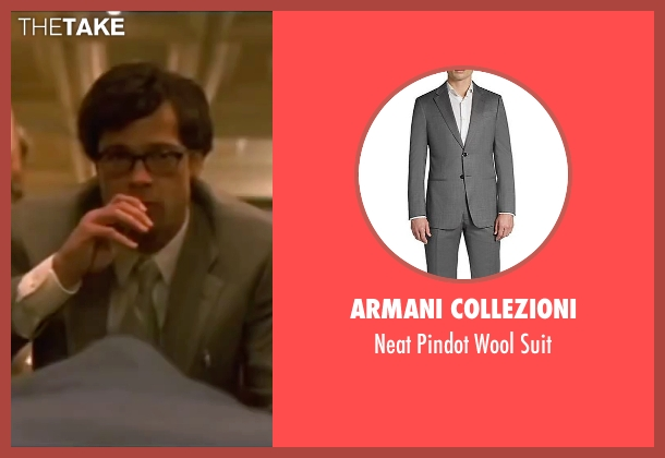 Armani Collezioni gray suit from Ocean's Eleven seen with Brad Pitt (Rusty Ryan)