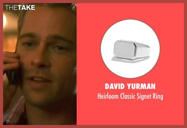 David Yurman silver ring from Ocean's Eleven seen with Brad Pitt (Rusty Ryan)