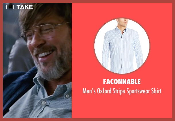 Faconnable blue shirt from The Big Short seen with Brad Pitt (Ben Rickert)