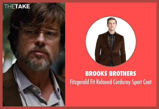 Brooks Brothers brown coat from The Big Short seen with Brad Pitt (Ben Rickert)