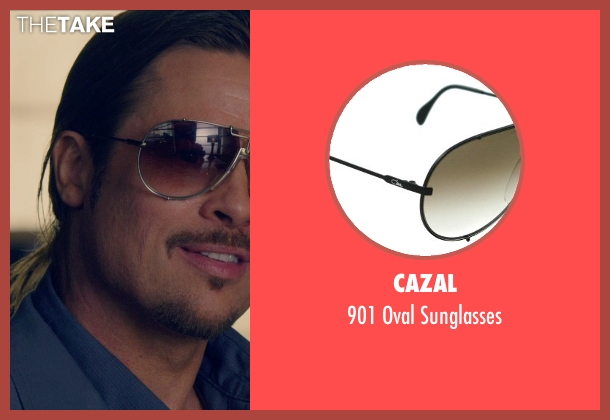 Cazal black sunglasses from The Counselor seen with Brad Pitt (Westray)