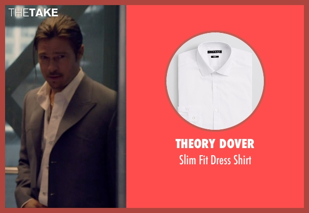 Theory Dover white shirt from The Counselor seen with Brad Pitt (Westray)