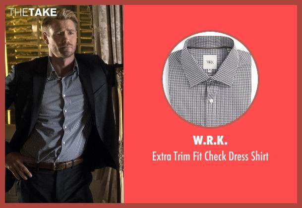 W.R.K. black shirt from Scream Queens seen with Brad Radwell (Chad Michael Murray)