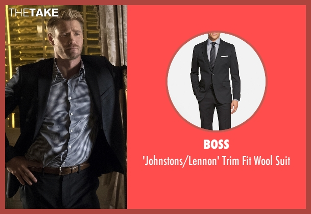 Boss black suit from Scream Queens seen with Brad Radwell (Chad Michael Murray)