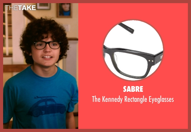Sabre black eyeglasses from Blended seen with Braxton Beckham (Brendan Reynolds)