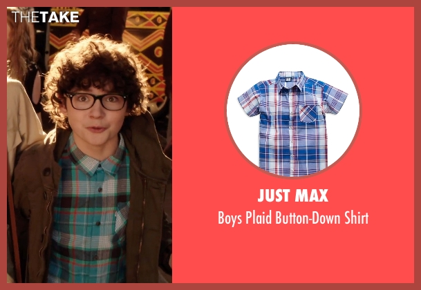 JUST MAX blue shirt from Blended seen with Braxton Beckham (Brendan Reynolds)