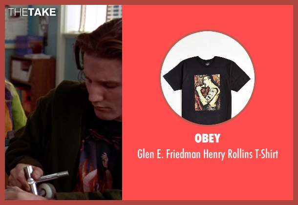 Obey black t-shirt from Clueless seen with Breckin Meyer (Travis)