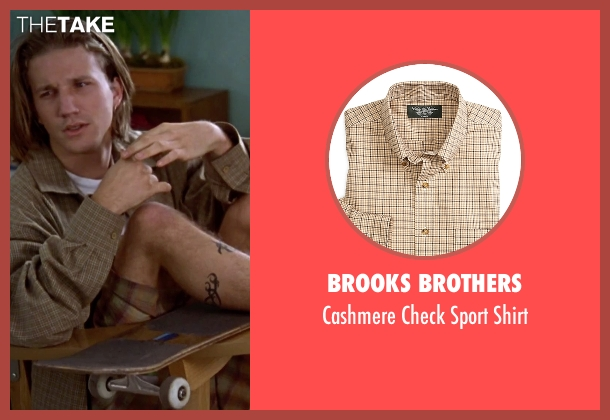 Brooks Brothers brown shirt from Clueless seen with Breckin Meyer (Travis)