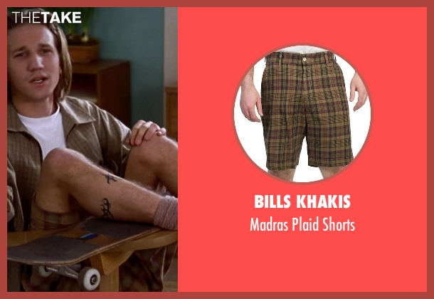 Bills Khakis brown shorts from Clueless seen with Breckin Meyer (Travis)