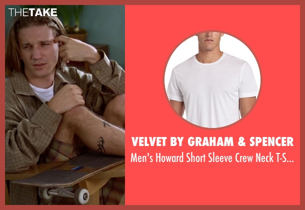 Velvet by Graham & Spencer white t-shirt from Clueless seen with Breckin Meyer (Travis)