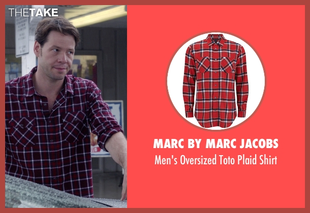 Marc by Marc Jacobs red shirt from The Mindy Project seen with Brendan Deslaurier  (Mark Duplass)
