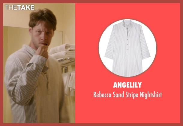 Angelily white nightshirt from The Mindy Project seen with Brendan Deslaurier  (Mark Duplass)