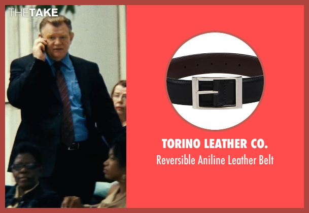 Torino Leather Co. black belt from Safe House seen with Brendan Gleeson (David Barlow)