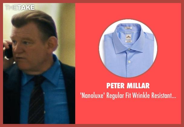 Peter Millar blue shirt from Safe House seen with Brendan Gleeson (David Barlow)
