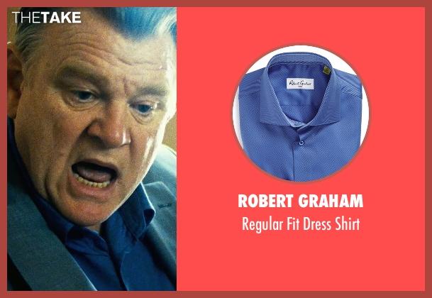 Robert Graham blue shirt from Safe House seen with Brendan Gleeson (David Barlow)