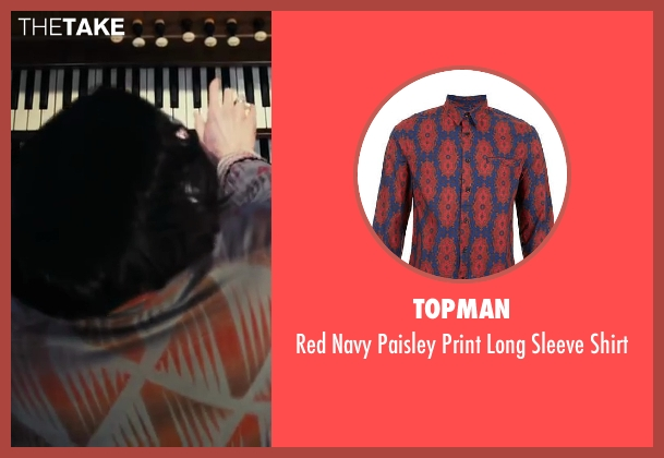 Topman red shirt from The Great Gatsby seen with Brendan Maclean (Klipspringer)