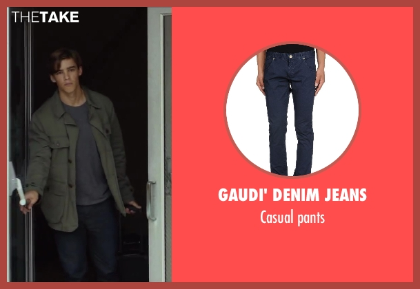 GAUDI' DENIM JEANS blue pants from Oculus seen with Brenton Thwaites (Tim Russel)