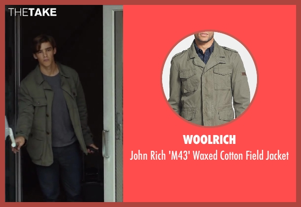 Woolrich green jacket from Oculus seen with Brenton Thwaites (Tim Russel)