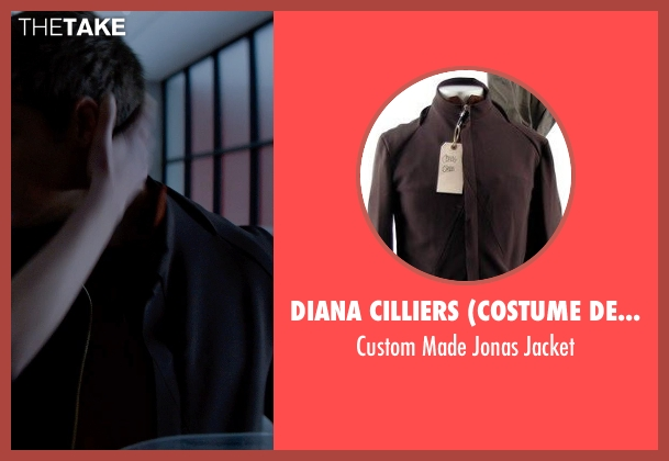 Diana Cilliers (Costume Designer) black jacket from The Giver seen with Brenton Thwaites (Jonas)