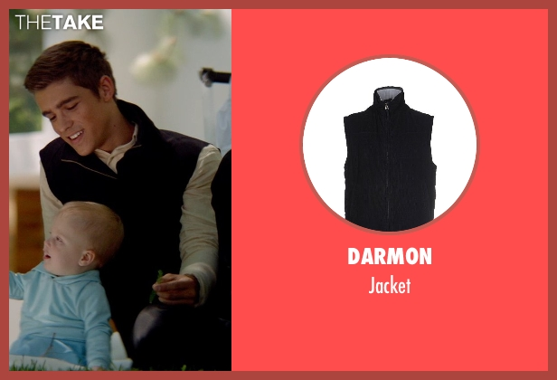 Darmon black jacket from The Giver seen with Brenton Thwaites (Jonas)