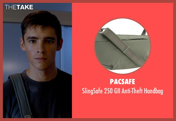 Pacsafe blue handbag from The Giver seen with Brenton Thwaites (Jonas)
