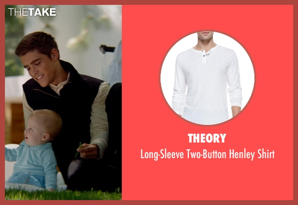 Theory white shirt from The Giver seen with Brenton Thwaites (Jonas)