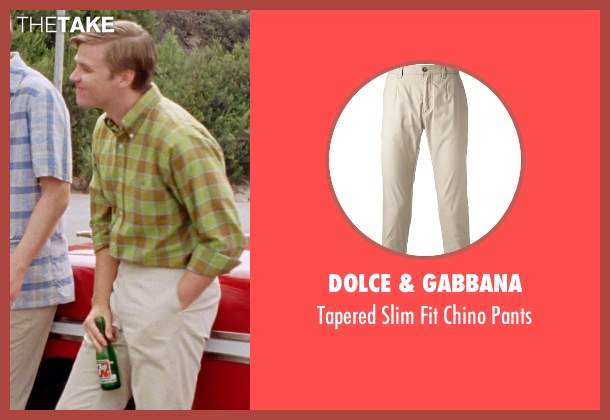 Dolce & Gabbana beige pants from Love & Mercy seen with Brett Davern (Carl Wilson)