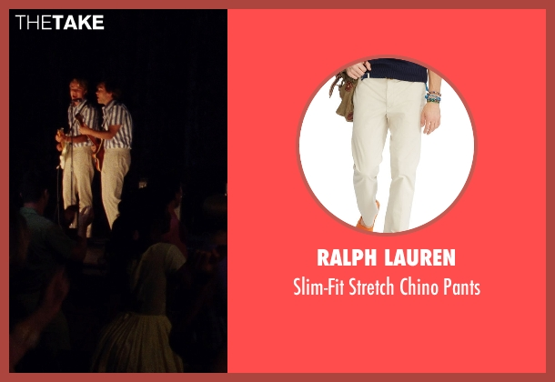 Ralph Lauren beige pants from Love & Mercy seen with Brett Davern (Carl Wilson)