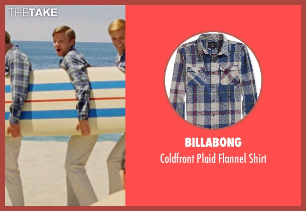 Billabong blue shirt from Love & Mercy seen with Brett Davern (Carl Wilson)