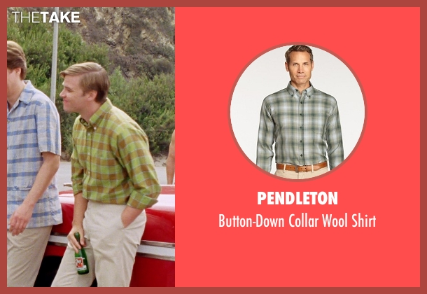 Pendleton green shirt from Love & Mercy seen with Brett Davern (Carl Wilson)