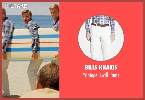 Bills Khakis white pants from Love & Mercy seen with Brett Davern (Carl Wilson)
