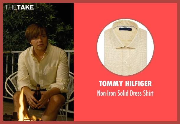 Tommy Hilfiger yellow shirt from Love & Mercy seen with Brett Davern (Carl Wilson)