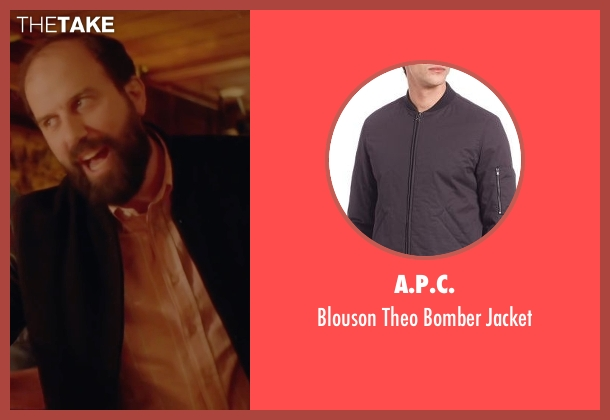 A.P.C. black jacket from Joshy seen with Brett Gelman (Greg)