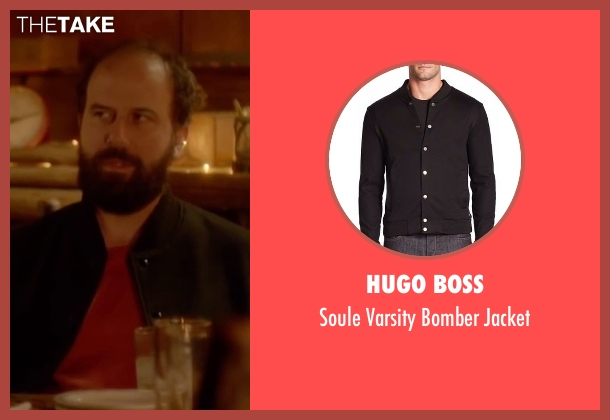 Hugo Boss black jacket from Joshy seen with Brett Gelman (Greg)