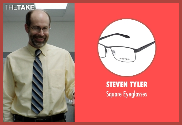 Steven Tyler black eyeglasses from Neighbors seen with Brian Huskey (Bill Wazowkowski)