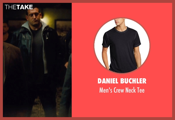 Daniel Buchler black tee from Run All Night seen with Brian James Pepe (Shawn's Crew)