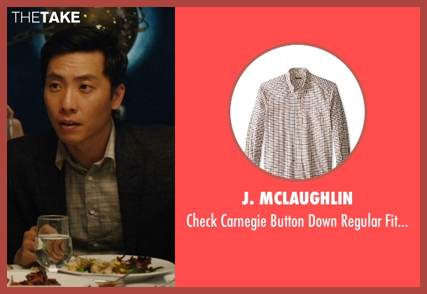 J. McLaughlin beige shirt from Master of None seen with Brian (Kelvin Yu)
