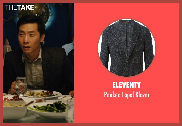 Eleventy black blazer from Master of None seen with Brian (Kelvin Yu)