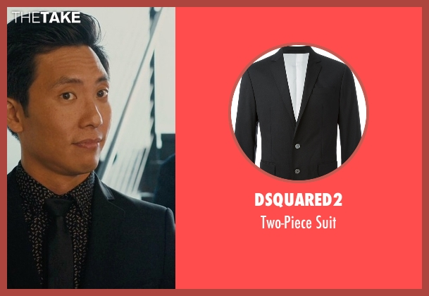 DSQUARED2 black suit from Master of None seen with Brian (Kelvin Yu)