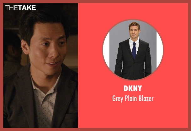 DKNY gray blazer from Master of None seen with Brian (Kelvin Yu)
