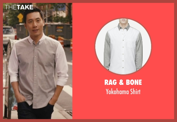Rag & Bone gray shirt from Master of None seen with Brian (Kelvin Yu)