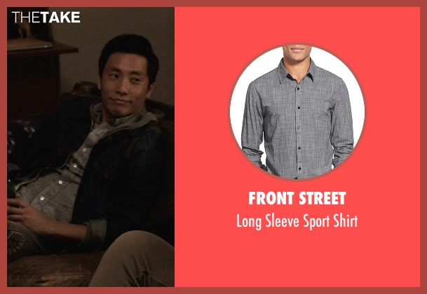 Front Street gray shirt from Master of None seen with Brian (Kelvin Yu)