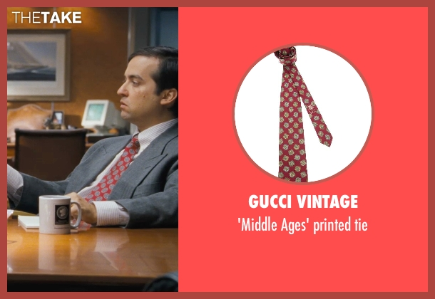 GUCCI VINTAGE red tie from The Wolf of Wall Street seen with Brian Sacca (Robbie Feinberg ('Pinhead'))