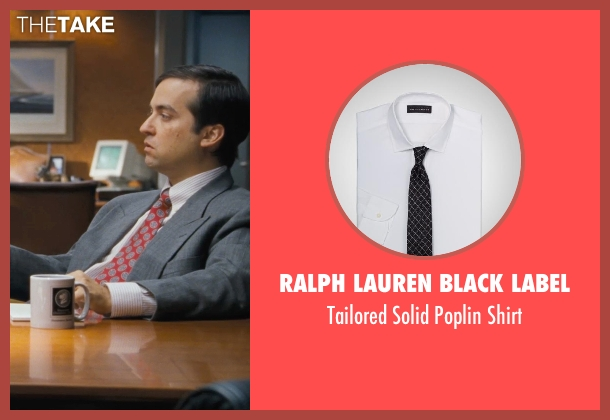RALPH LAUREN BLACK LABEL white shirt from The Wolf of Wall Street seen with Brian Sacca (Robbie Feinberg ('Pinhead'))