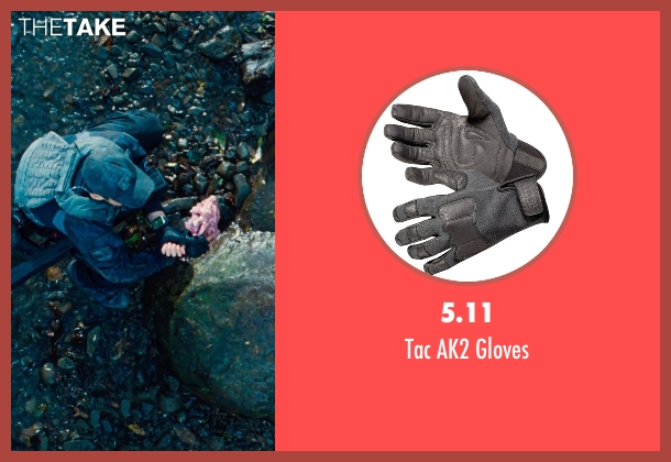 5.11 black gloves from Jurassic World seen with Brian Tee (Takashi Hamada)