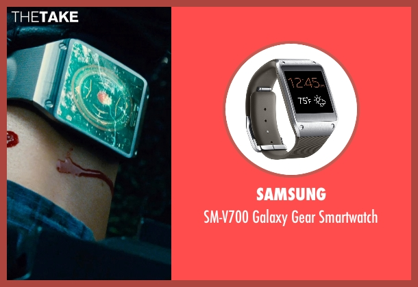 Samsung black smartwatch from Jurassic World seen with Brian Tee (Takashi Hamada)