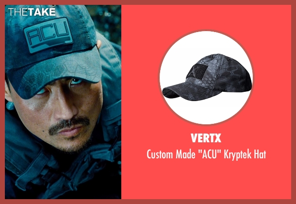 Vertx blue hat from Jurassic World seen with Brian Tee (Takashi Hamada)