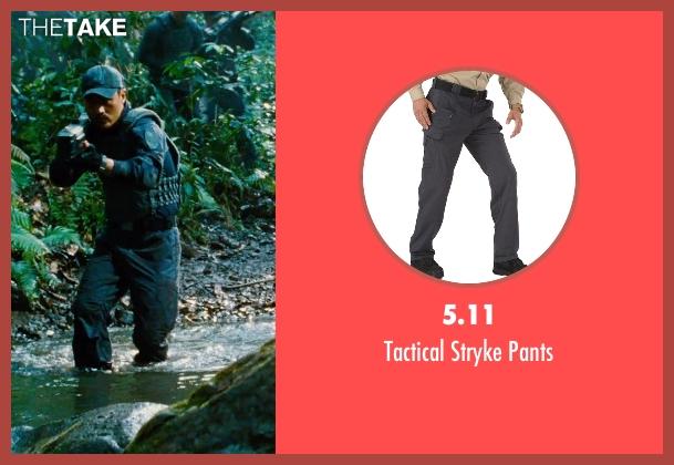 5.11 gray pants from Jurassic World seen with Brian Tee (Takashi Hamada)